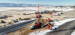Coldwater Drilling rig working on Missoula Airport project